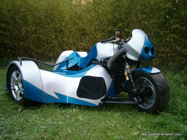 side car de course nouvelle peinture k1200rs bmw choda